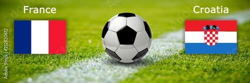 Finale Frankreich gegen Kroatien - 212820612