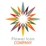 Colorful flower logo, symbol, vector illustration. - 212822215