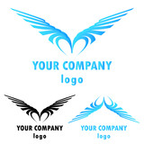 Bird symbolic logo icon, clip art vector illustration. - 212822272