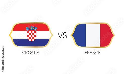 Anglia kontra Francja wektor mecz piłki nożnej.