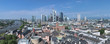 Panorama of Frankfurt am Main, Germany. View from the tower of Frankfurt Cathedral.