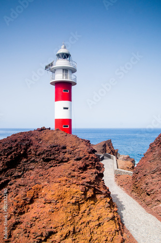 Fotobehang Vuurtoren lighthouse of Punta de Teno in Tenerife, Canary Islands