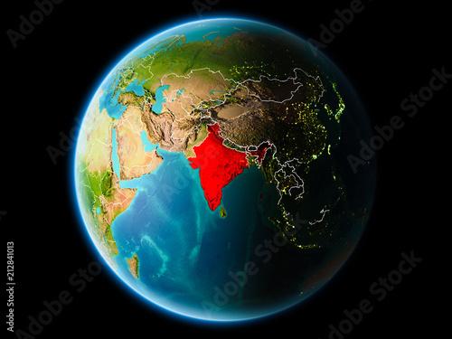 Fototapeta India in the evening