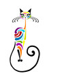 Colorful cat design. Vector illustration