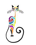Colorful cat design. Vector illustration - 212844084