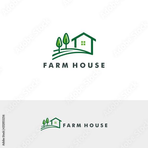 Farm House Logo Template Vector Ilration