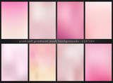 Soft and smooth lines minimalist concept pink and purple color tone backgrounds set. - 212857602