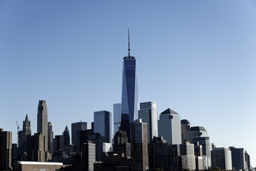 Skyline, Financial District mit One World Trade Center, Manhattan, New York City, New York, USA, Nordamerika