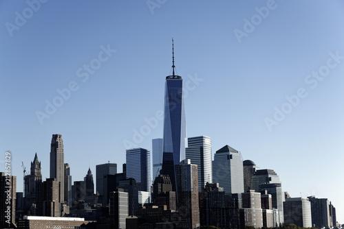 Obraz na płótnie Skyline, Financial District mit One World Trade Center, Manhattan, New York City, New York, USA, Nordamerika