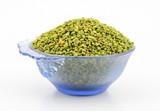 Fresh and healthy green fenugreek seeds - 212861235