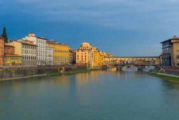 Ponte Vecchio Bridge over Arno river in Florence, Italy © NoraDoa