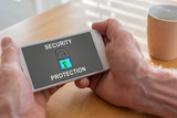 Cyber security concept on a smartphone - 212873848