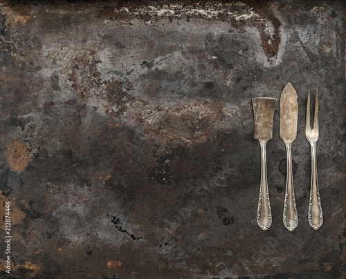 Antyczne zastawa stołowa Vintage srebrne sztućce