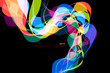 Colorful shaped scene vector abstract wallpaper on a black backgrounds - 212878664