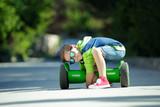 A child on a gyroscope  - 212878613