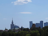 View at Warsaw Panorama Connection and Contrast of Historic Town and Modern Contemporary Architecture