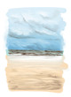landscape card with a picture of a Sunny sandy beach with sea wave - 212879809