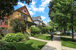 USA / Chicago - Wooden houses in Oak Park