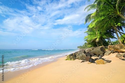 Fotobehang Tropical strand beach