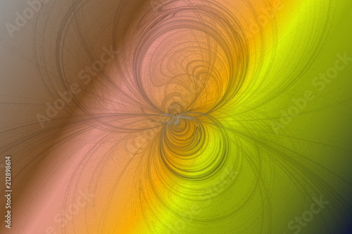 fine circular lines on a color background - 212898614