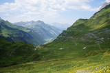 Klausen Pass (German: Klausenpass), a high mountain pass in the Swiss Alps connecting Altdorf in the canton of Uri with Linthal in the canton of Glarus.
