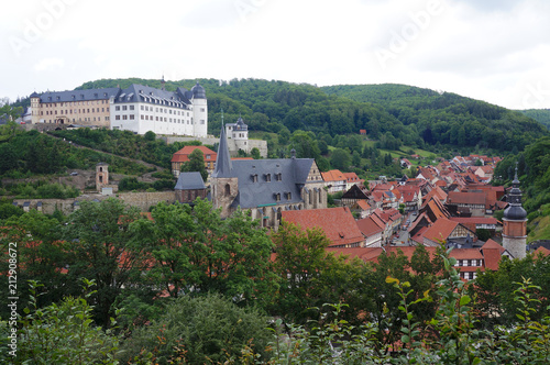 Historical center of Stolberg, a town and former municipality in the district of Mansfeld-Südharz, in the German State of Saxony-Anhalt, Germany - 212908672