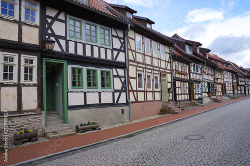 Foto Murales Historical center of Stolberg, a town and former municipality in the district of Mansfeld-Südharz, in the German State of Saxony-Anhalt, Germany