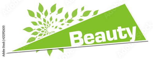 Beauty Green Leaves Circular Triangle Horizontal  - 212912630