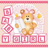 Baby girl teddy bear background  - 212914885