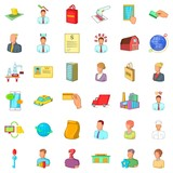 Career in company icons set. Cartoon style of 36 career in company vector icons for web isolated on white background - 212917447
