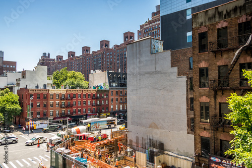 Foto Murales Construction in bustling New York City 3