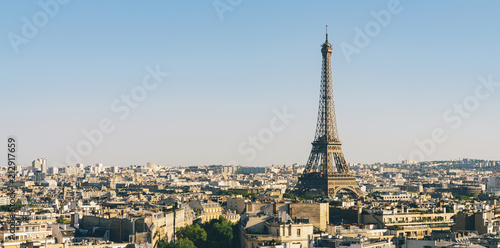 Paris Eiffel Tower with skyline - 212917659