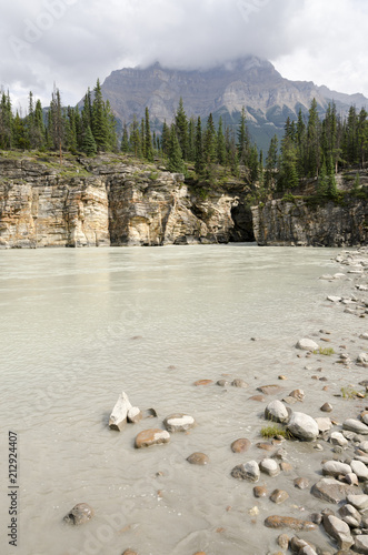 Athabasca Falls in Alberta in Canada