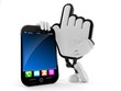 Cursor character with smart phone