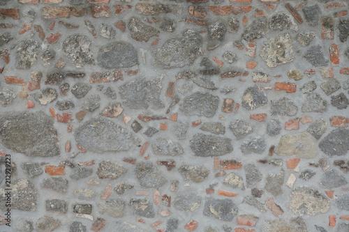 Fotobehang Stenen Pattern, Brick and Stone Wall