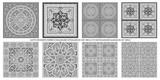 Motifs décoratifs inspirés de manuscrits ottomans et mameluks des XIVe et XVIIIe siècle - 212929681