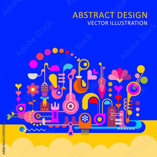 In de dag Abstractie Art Abstract Design vector illustration