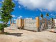 Cinder block building construction