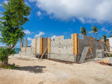 Cinder block building construction - 212938469