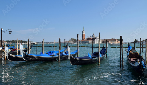 Gondolas in Venice, Italy - 212939061