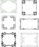 Set of the different decorative frames - 212945608