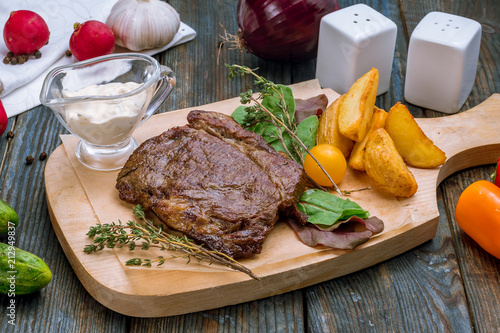 Fotobehang Steakhouse roast beef Steak