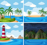 A set of beautilful seascape - 212950811