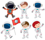 A Set of Astronaut - 212952664