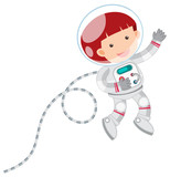 An Astronaut on White Background - 212952887