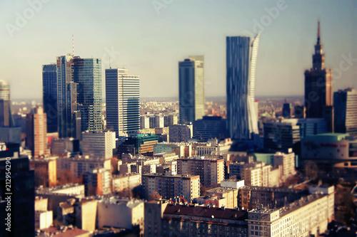 Warszawa, widok na miasto, budynki