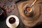 Traditional turkish coffee prepared on hot sand - 212961293