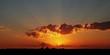 Leinwanddruck Bild - Dramatischer Sonnenuntergang über Berlin City