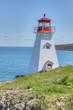 Vertical of Boar's Head Lighthouse in Nova Scotia