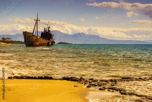 Aluminium Schipbreuk The famous shipwreck near Gythio Greece